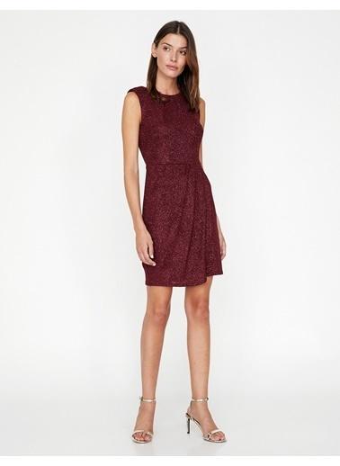 Koton Kolsuz Simli Elbise Kırmızı